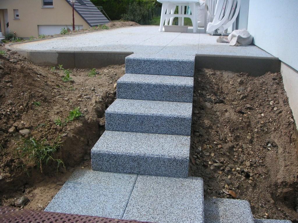 Entreprise de r novation alsacienne for Escalier exterieur granit